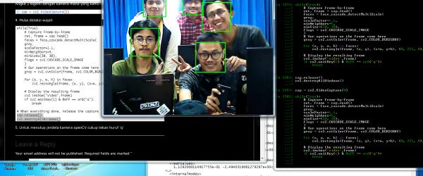 Face Detection Kamera OpenCV dan python